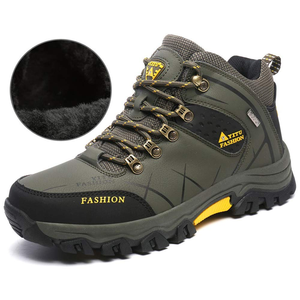 Pandaie-Mens Shoes Casual Mens Outdoor Flat Off-Road Sport Hiking Shoe Keep Warm Non-Slip Sneaker