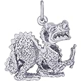 Rembrandt Charms Dragon Charm, Sterling Silver