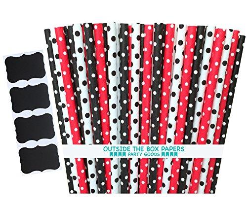 Outside Box Papers Ladybug Straws product image