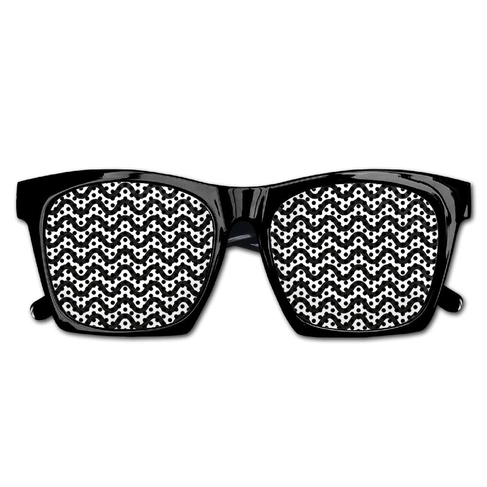 Xing Stars Colorful Summer Unisex Simple Wavy Line Fashion Party Costume Sunglasses