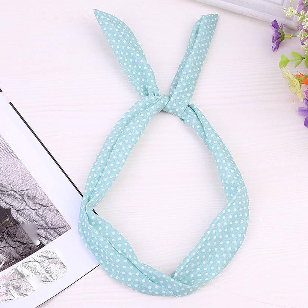 Bandeau Rockabilly avec fil Bandeau de cheveux r/étro /écharpe polka pois tartan