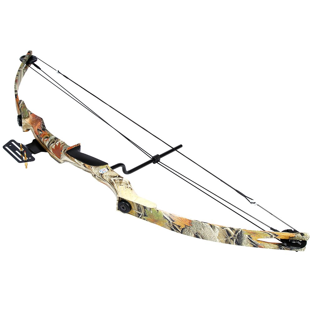 iGlow 55 lb Autumn Camouflage Camo Archery Hunting Compound Bow 175 150 80 50 40 lbs Crossbow by iGlow