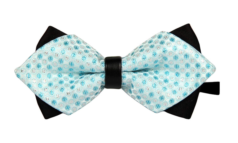 MENDENG Mens Pretied Polka Dot//Stripe//Plaid Bowtie Formal Wedding Groom Bow Ties