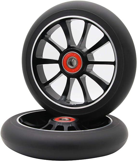 Amazon.com: 2pcs rueda de 120 mm PRO – Patinete Scooter de ...