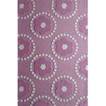 RUGADDICTION Hermosa Alfombra Para ninos color purpura hecha a mano estilo moderno lujosa, 47.3