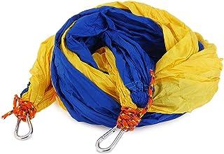 SHUFAGN,Tissu en Nylon de Parachute portatif de Couleur mélangée à Deux Personnes d'hamac pour l'usage d'intérieur et extérieur(Color:Chameau)