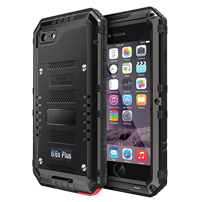 new product ae3e8 54da2 iPhone 6 6S Plus Waterproof Case, CarterLily Underwater Full Body Heavy  Duty Built-in Screen Snowproof Shockproof Dropproof Tough Rugged Hybrid  Hard ...