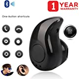 RawMax Mini S530 Wireless Kaju Stereo-Bluetooth 4.1 Headset with Mic for all Smartphones (Black)