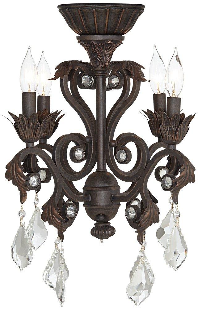 4 Light Oil Rubbed Bronze Chandelier Ceiling Fan Light Kit     Amazon.com
