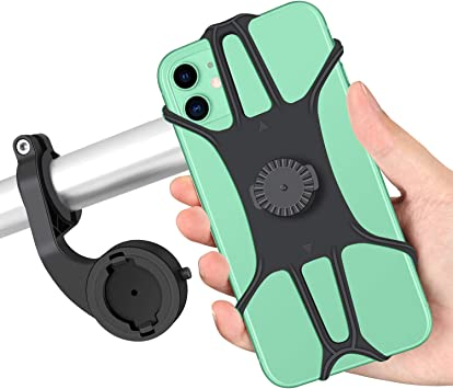 Maxuni Soporte Móvil Bicicleta, Soporte Teléfono Bicicleta y Motocicleta de Silicona Ajustable Anti vibración Rotación de 360° Universal para 4.0-6.8 pulgadas Smartphone, Compatible con iPhone Samsung: Amazon.es: Electrónica