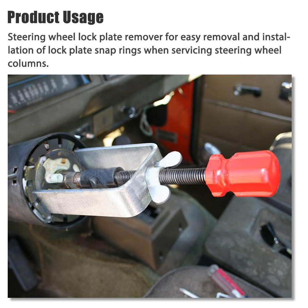 A ABIGAIL Steering Wheel Lock Plate Removal Remover Tool