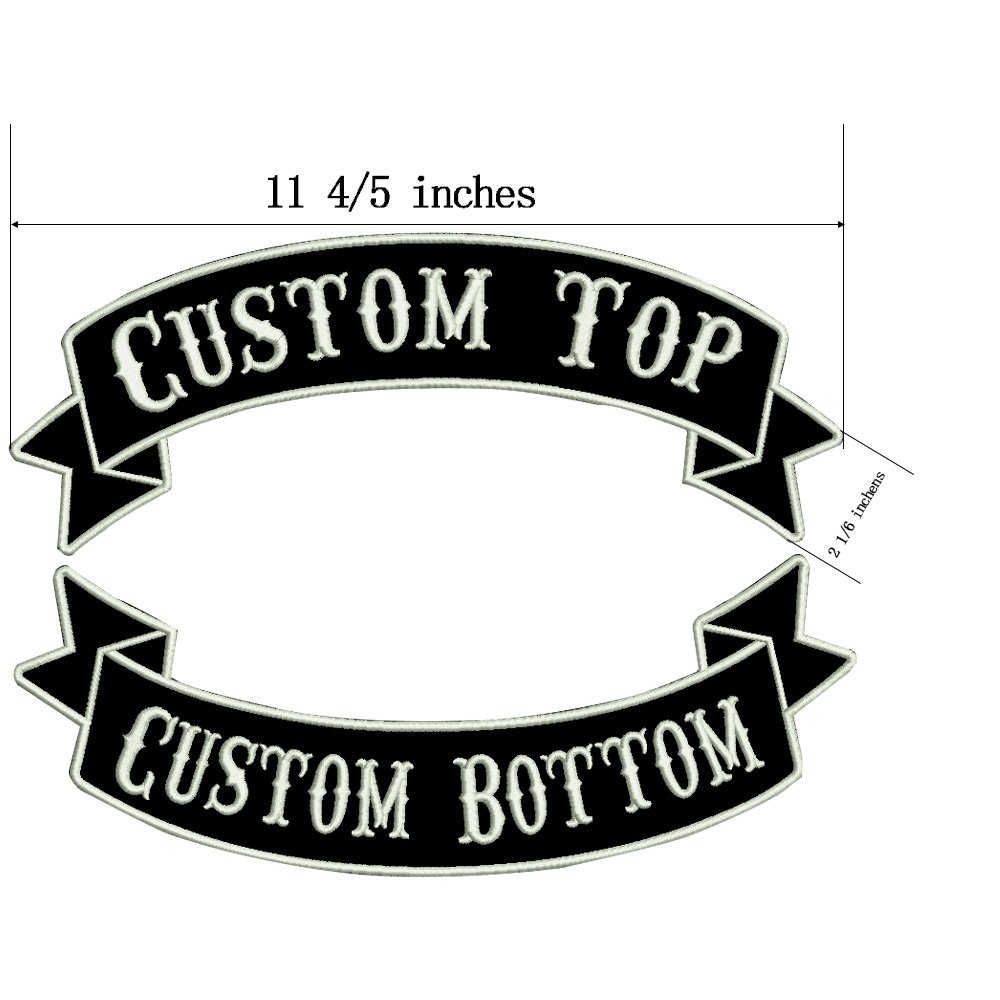 Custom Embroidery Rocker Name Patch Personalized Military Number Tag Customized Logo ID for Multiple Clothing Bags Vest Jackets Work Shirts Yellow on Black