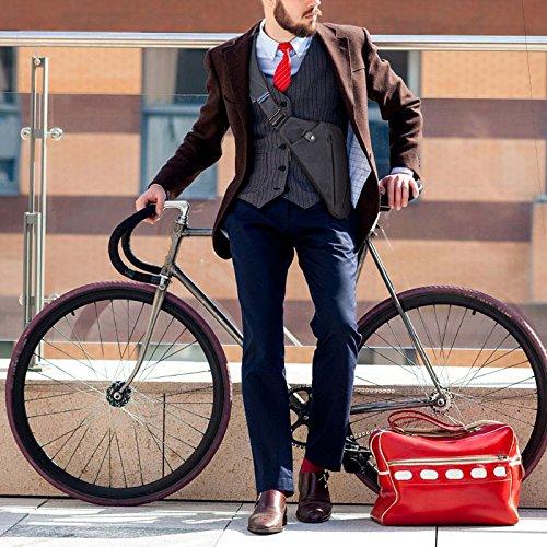 Gris mano Ciclismo la derecha Gris Paseos Chest NIID para Sling Daypack mano Hombres Bolsa Multiusos Universidad Hombro Senderismo FINO Mochila Slim Hombres de derecha Crossbody wqxaA1B