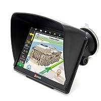 Junsun 7 zoll GPS Navigator Navi mit Vorgeladene Europe Karten 8GB/256M DDR/800MHZ mit kostenlosen lebenslangen Kartenupdates für 48 Länder Europas