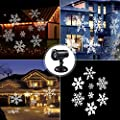 SUGIFT Moving Snowflake Spotlight LED Landscape Projector Light, Waterproof Christmas Projection Lights, Christmas Holiday Garden Home Party Wall Garden Lawn Indoor/Outdoor Decoration Light, White