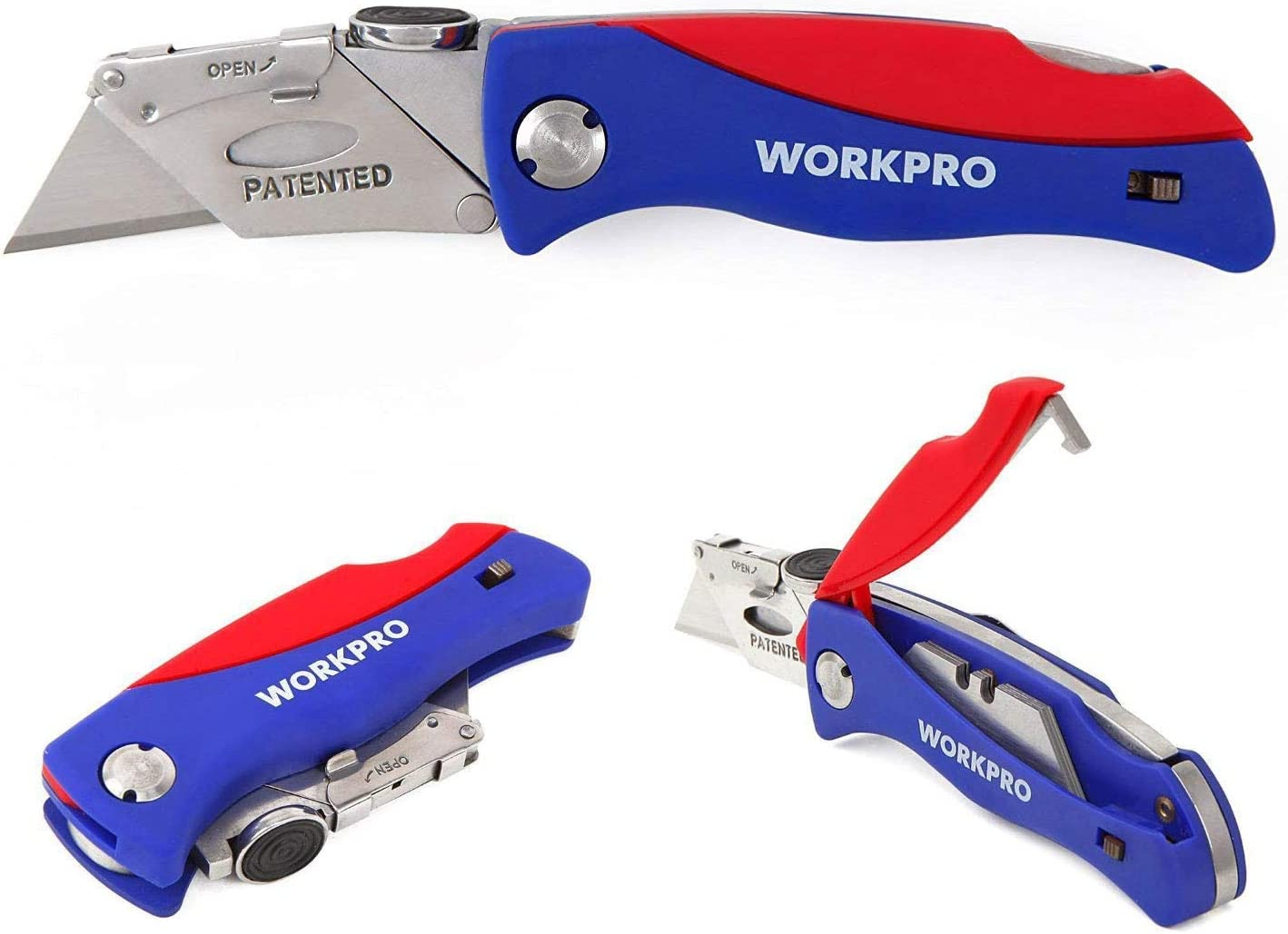 WORKPRO Folding Utility Knife Quick-change Box Cutter