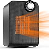 Space Heater, 1500W Energy Saving with Thermostat, Quiet for Personal Office Home Bedroom Under Desk Small Medium Room, Electric Ceramic Heater with ETL Safety Approved