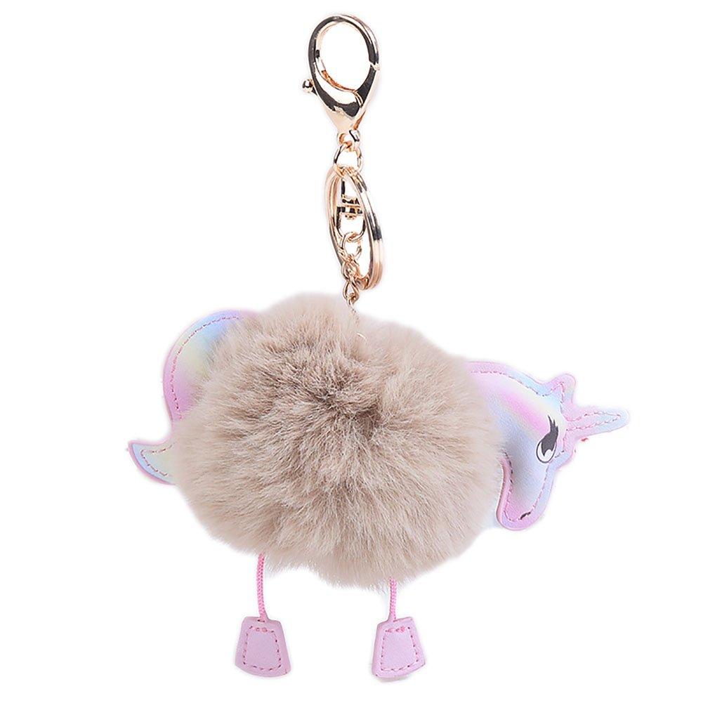 Amazon.com: buyitnow Unicornio Llavero Plush Piel bola ...