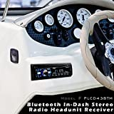 Boat Bluetooth Marine Stereo Receiver - Marine Head Unit Din Single Stereo Speaker Receiver - Wireless Music Streaming, Hands-Free Calling, CD Player/MP3/USB/AUX/ AM FM Radio - Pyle PLCD43BTM