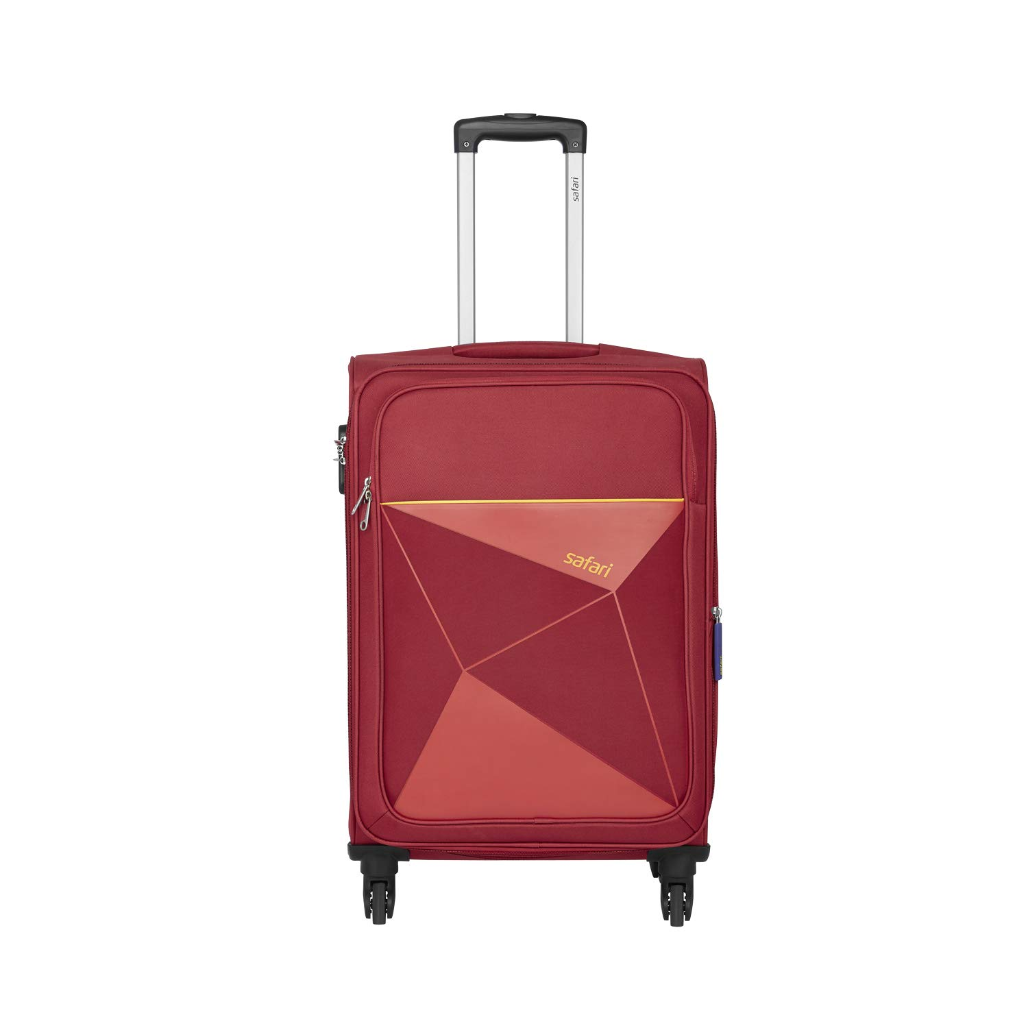 Safari Polyester 77 cms Red Softsided Check-in Luggage (PRISMA754WRED)