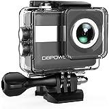 """DBPOWER Action Camera 4K WiFi, Videocamera Impermeabile per Sport con 20MP, Touchscreen LCD da 2,31"""" e Grandangolare da 170°, Kit Accessori e 2 Batterie Ricaricabili Incluse"""