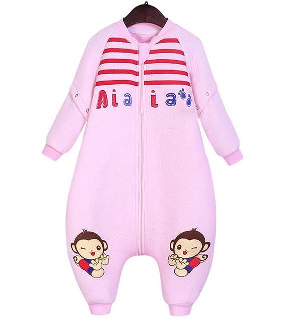 Happy Cherry Bolsa de Dormir Mono Acolchado Pijama de Mangas Largas Saco de Dormir para Bebés Niños Niñas Otoño Invierno Talla XL Longitud 92cm: Amazon.es: ...