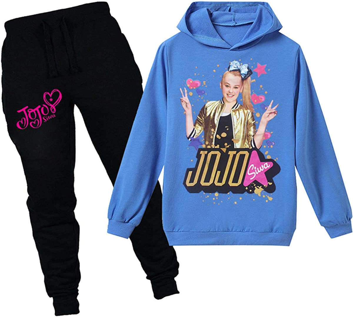 Coo-kid JoJo Siwa Hoodies-Girls Fashion Hoody Cute Sweatshirt Hoodies and Pants