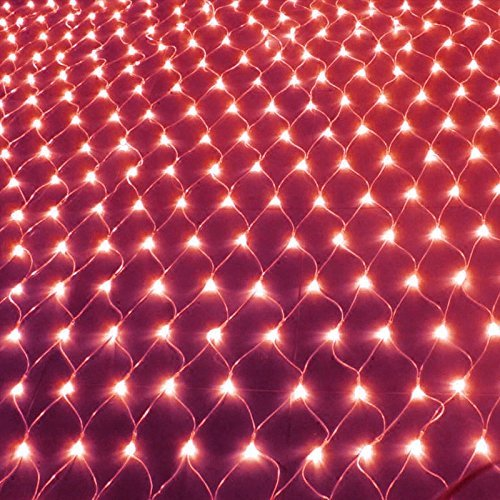 Christmas Led Net Lights Red in US - 8