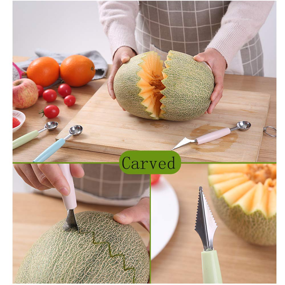 Easier To Perfect Utensil For Carving Fruit RHL Stainless Steel Fruit Scoop Set Of 3