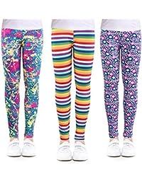 31231a69b8d6c 3-Pack Printing Flower Girl Leggings Kids Classic Pants 4-13Y