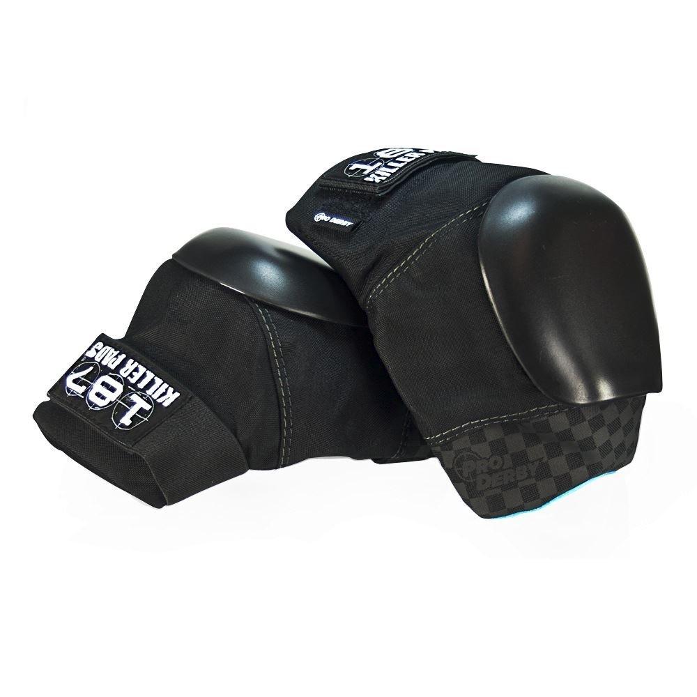Pro Derby Knee Pads – Black Black 2X – 3X Large
