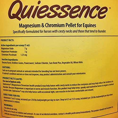 Picture of Quiessence Foxden Equine 14 lb Banana Flavored Magnesium Pellets Founder Calming Sore Muscle Supplement