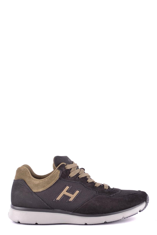 Hogan メンズ MCBI148516O ブラック セーム 運動靴 B07C687L4N