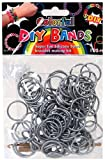 DIY Bands – 100 Count Silver Refill bands with Clips and Loom tool image
