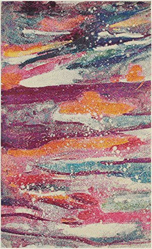 Unique Loom Chromatic Collection Modern Abstract Colorful Kids Multi Area Rug (5' 0 x 8' 0) ()
