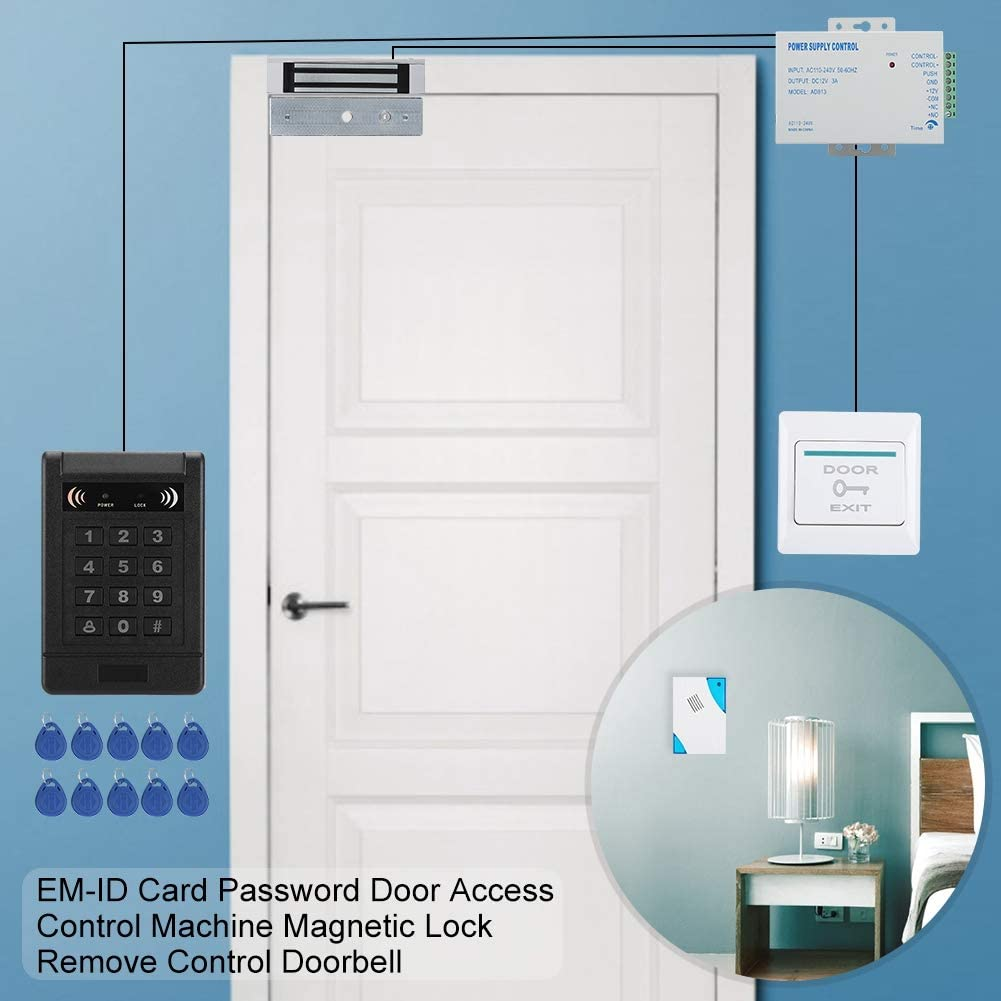 Door Access Control Kit EM-ID Card Remove Control Door Access Control System Doorbell Password Access Control Machine Magnetic Lock