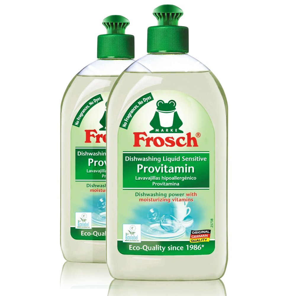 Frosch Sensitive Provitamin Unscented Hand Soap Dishwashing Liquid, 500 ml (Pack of 2)