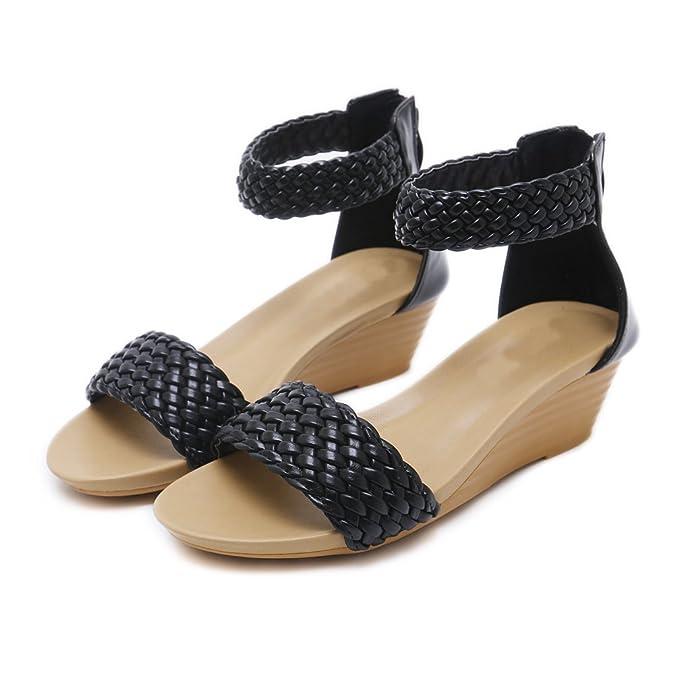 7192f554 Ruiren Sandalias Romanas de Cuña de Mujer, Zapatos de Verano para Damas:  Amazon.es: Zapatos y complementos