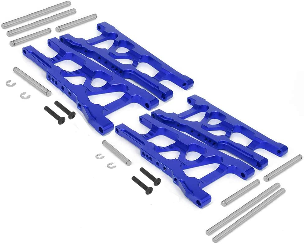 1 Set Front/&Rear Aluminum Shock Absorber/&Suspension A Arms 5862 3655 for RC Traxxas 1//10 Slash Rustler Stampede 4x4 4WD