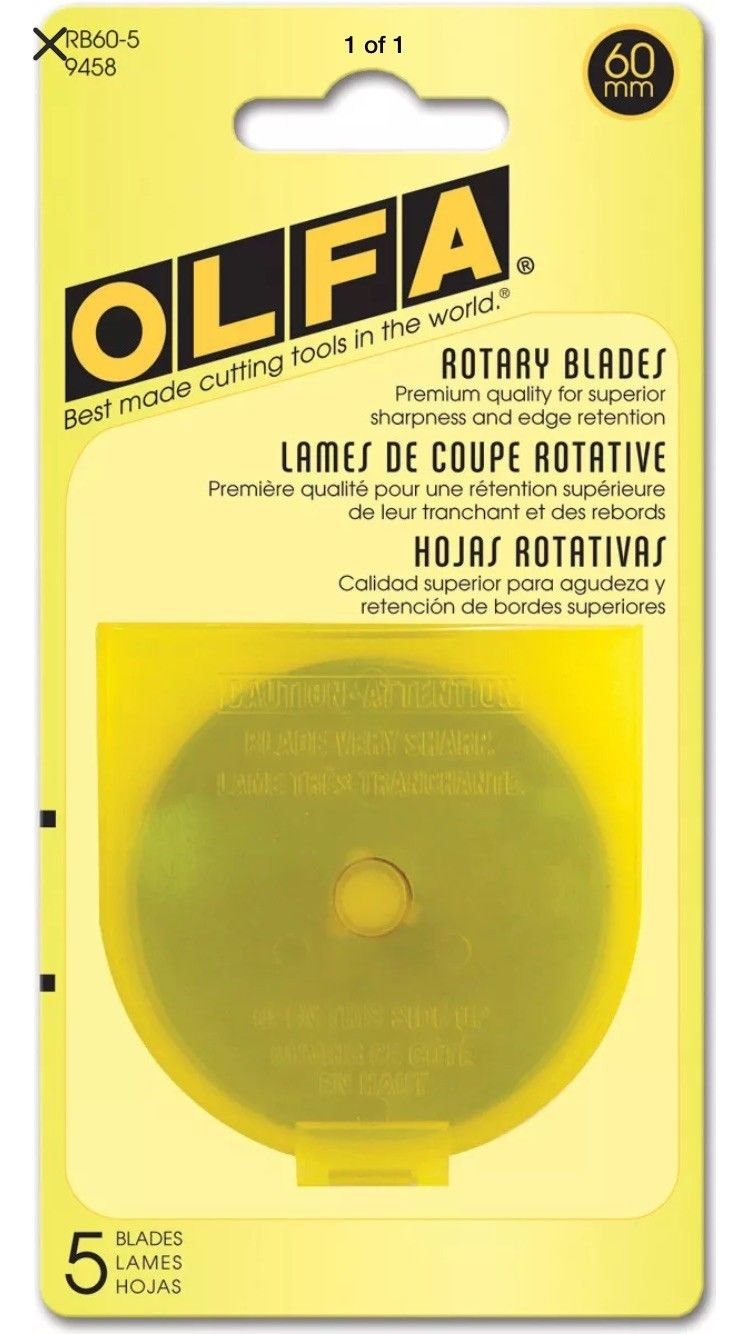 Olfa Rotary Blade Refill (5 per Package) - 60 Millimeters (Original Version)