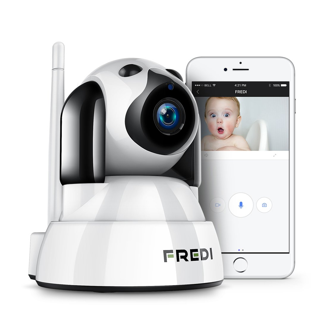 FREDI Baby Monitor,Pet Camera- Wireless Security Camera with Night Vision/Two Way Audio/PTZ/Motion Detection,2.4G WiFi…