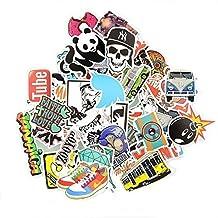Sedeta® (Pack of 50) Stickers Skateboard Snowboard Vintage Vinyl Sticker Graffiti Laptop Luggage Car Bike Bicycle Decals mix Lot Fashion Cool