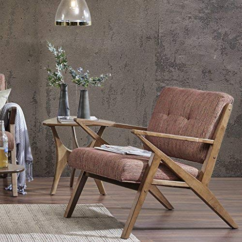 Ink+Ivy FPF18-0350  Rocket - Mid Century Modern Accent Chair - Comfortable All Foam Lounge Armchair Sturdy Solid Wood Frame Z Rocket Retro Style (Lounge Chair Cushions Danish)