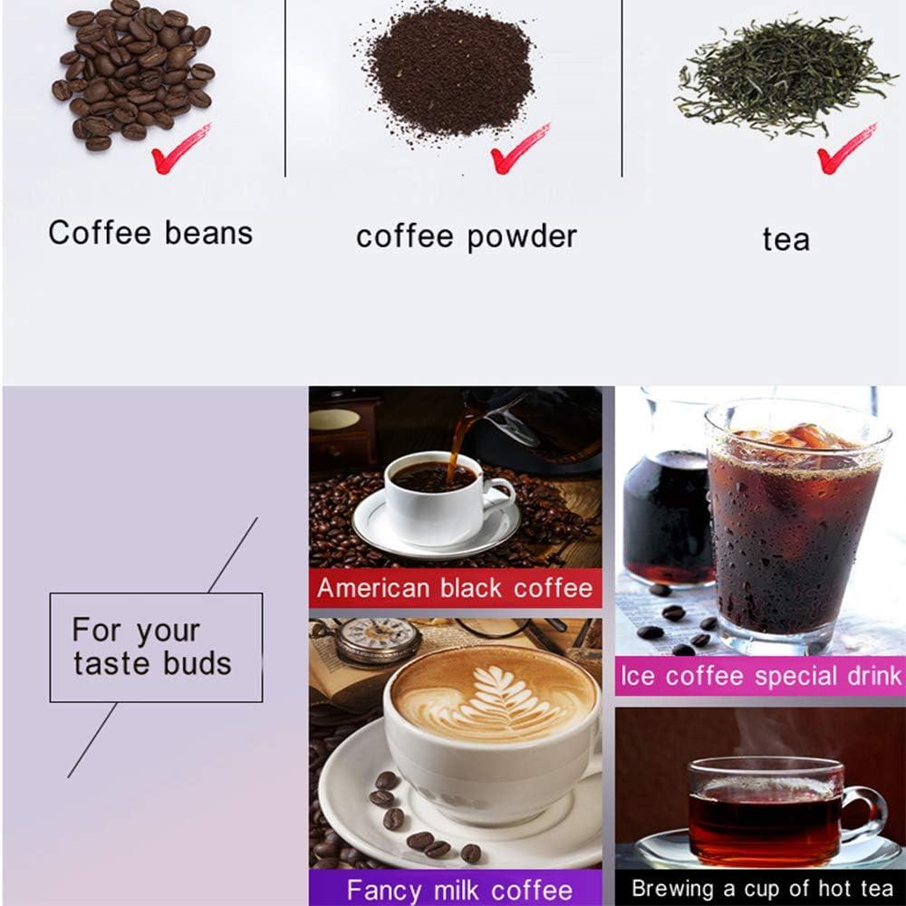 LJTT Vollautomatische Kaffeemaschine Programmierbare Espressomaschine 1.5L 12-Cup Kaffeemaschine Geeignet f/ür Home Office Tea Shop