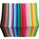 Shopline Crafts DIY Polyester Felt Nonwoven Fabric Sheet for Craft Work 40 Colors Squares 5.95.9inch(1515cm), About 1mm Thick, 40 Pcs