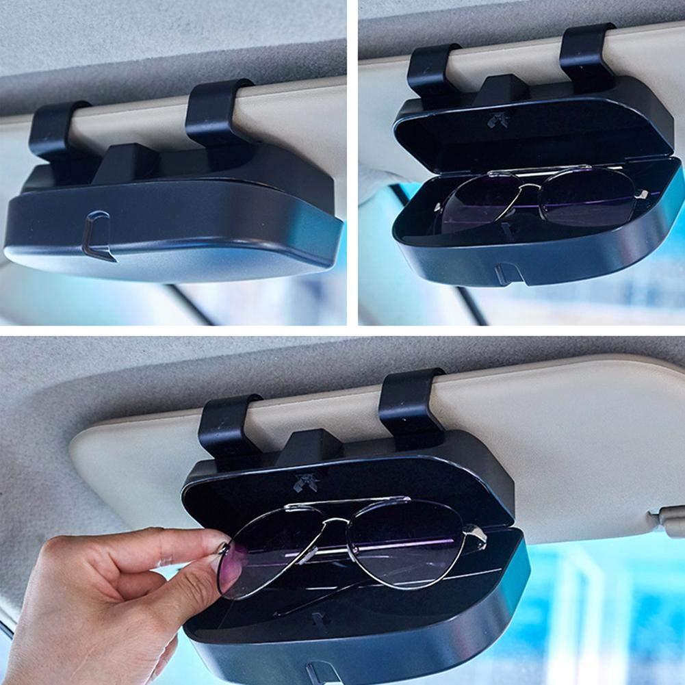 Universal Auto Sonnenbrille Brillenetui Aufbewahrungsbox Veranstalter Mit Brillenclip Auto Brillenetui Brillenhalter F/ür Auto Sonnenblende Auto Brillenhalter
