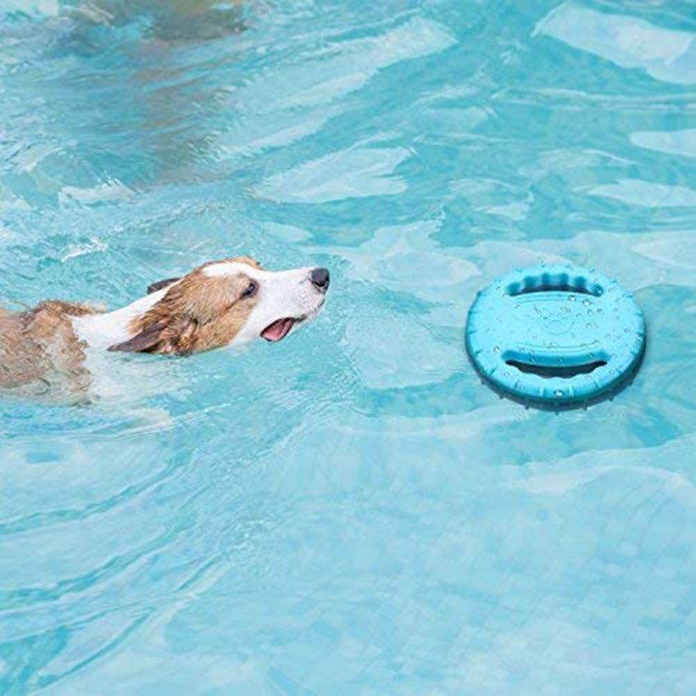 Dog Flying Disc,Rubber Dog Frisbee Bite Resistant Outdoor Training Fetch Sound Maker Float Pet Toy,Tough Training Flying Disc Play Toy for Dog,Interactive Dog Toys,Floats in Water Safe on Teeth