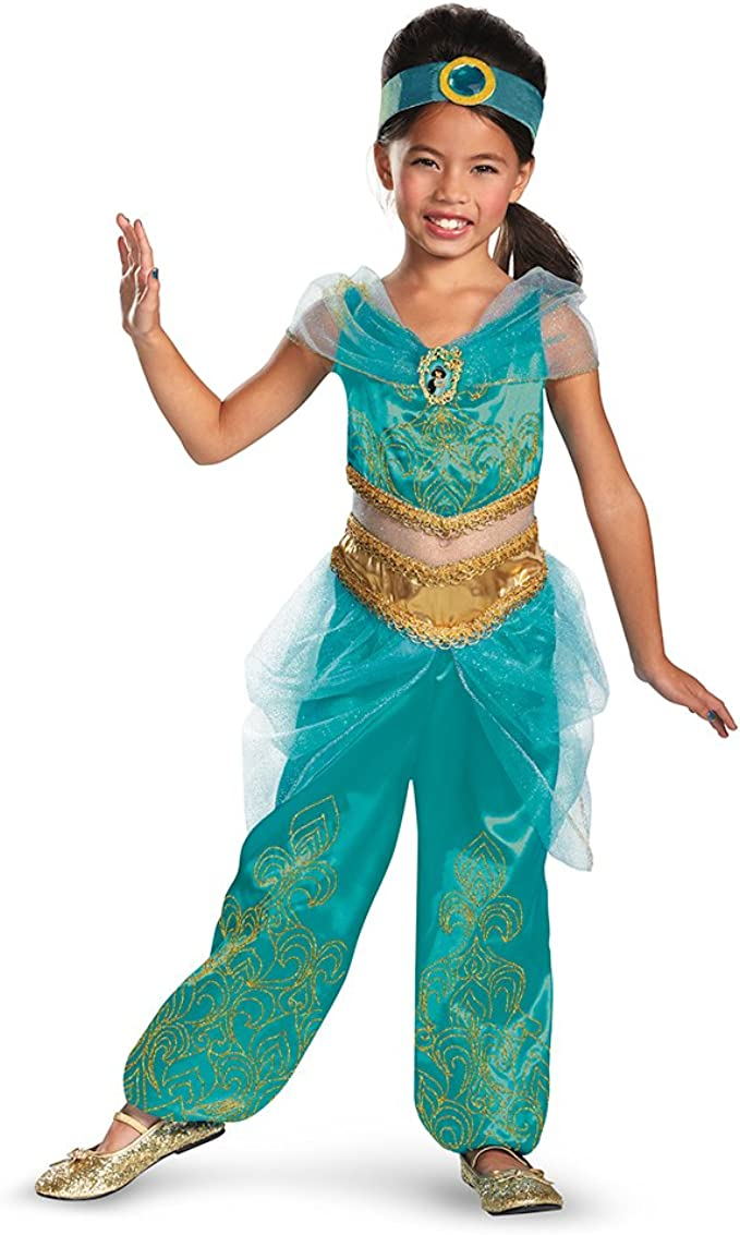 *NEW* Disguise Jasmine Teal Deluxe Child Costume