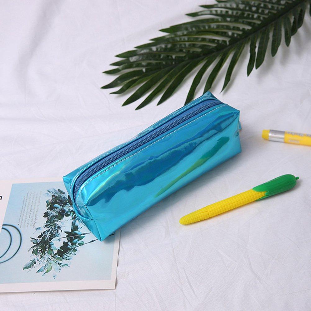 astuccio per penne 19*9*6CM argento Cosanter beauty-case per trucchi e pennelli da ragazza