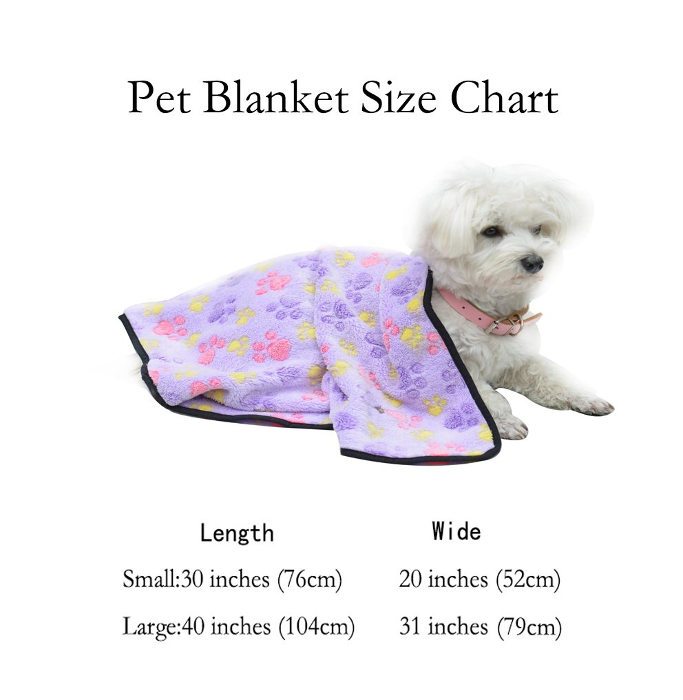 Amazon.: EXPAWLORER Pet Blanket for Small Cats & Dogs Thick